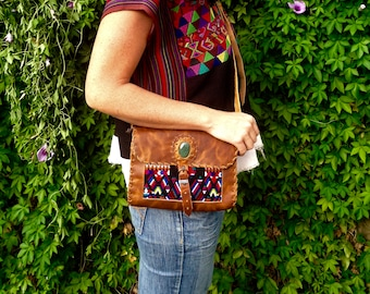 ABAH leather rectangular purse
