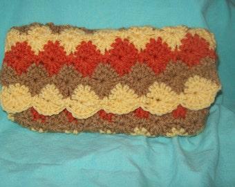 Carry All Pouch, Pencil Case, Makeup Bag Organizer, Coupon Holder, Crochet Purse