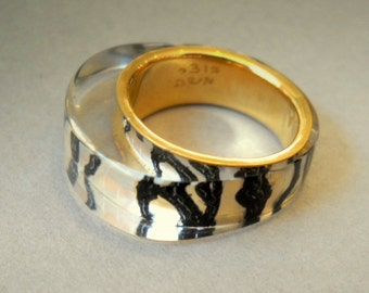 ZEBRA  GOLD RING