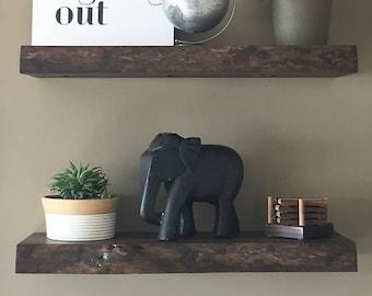Wood Shelf, natural wood, live edge,