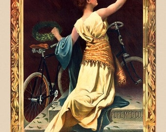 Columbia Chainless Bicycle Poster (#0553) 3 sizes