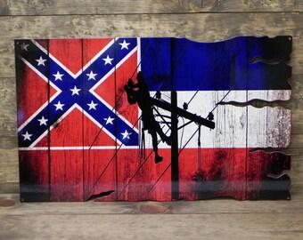 Mississippi Lineman Flag