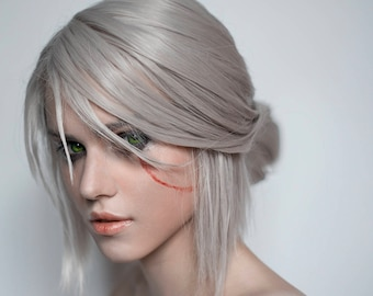 Made to order: Ciri (Cirilla) cosplay wig from witcher 3 wild hunt grey silver