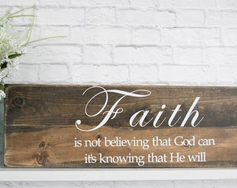 Wood Signs Personalized – Bible Verse Wall Art – Christian Wall Décor – Wood Sign Sayings – Faith Sign-Family Wall decor - White Distressed