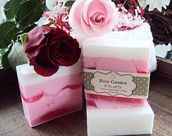 Rose Garden Goats Milk Soap, Handmade Soap, Rose Soap, Floral Soap, Pink Soap, Glycerin Soap, Goats Milk, Bath and Body, Soap
