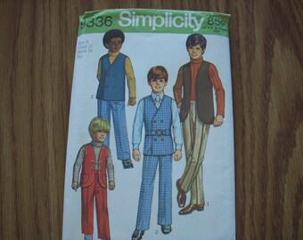 Vintage Simplicity Pattern 9336 Boys 8