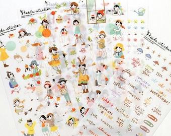 Heeda Heidi sticker set 6 sheets (A 1010)