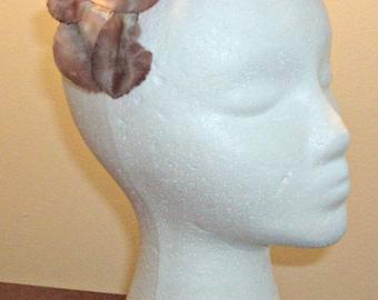 Vintage Brown Silk Leaf Hat