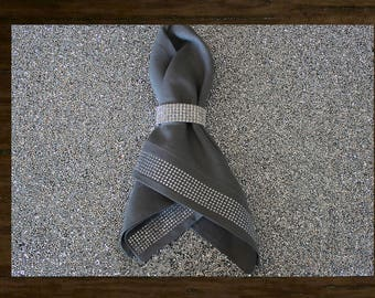 Luminous Collection Rectangle Rhinestone Placemat