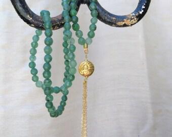 20's style beaded goldfish necklace