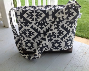 DSLR padded camera bag Aztec, cross body strap,photography, wedding photography, travel camera bag,camera built in insert