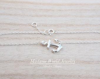 Plain Anchor Bracelet