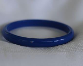 Twilight Blue Thin Bangle Bracelet