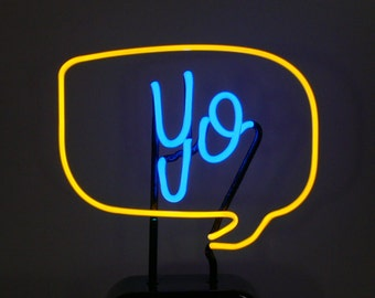 Your Word in a Speech Bubble Custom Neon Freestanding Art Sculpture -  1 to 4 letters - A Great Gift!!!