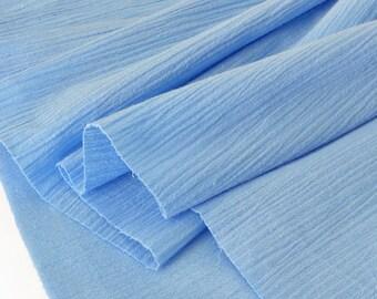Fabric crepe cotton extra soft blue x 50cm