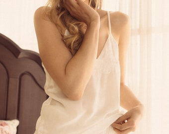 Esther Silk Blend Cami&Short set (Cream color)