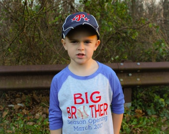 Big Brother Season Opening, new big brother, baseball big brother, pregnancy announcement shirt, promoted to big brother shirt
