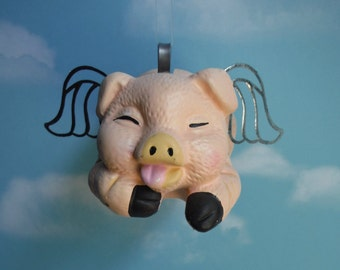 Flying Pig, When Pigs Fly Upcycled Piggy Bank