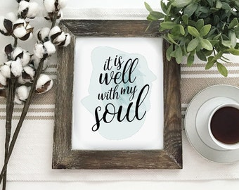 It Is Well With My Soul Printable PDF