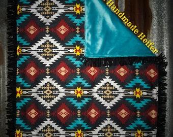 Aztec and Fringe Baby Blanket