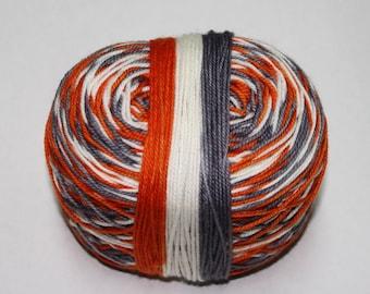 Ready to Ship - BB-8 Self Striping Hand Dyed Sock Yarn - Tough Sock