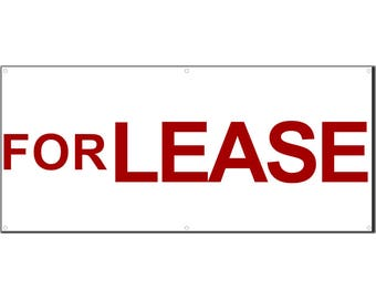 For Lease Vinyl Banner Single Sided with Grommets