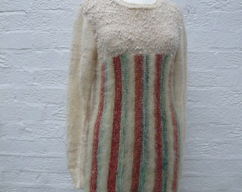 Women's sweater vintage knitted jumper. '80s clothing gift knit sweater, handmade 1980s.