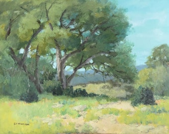 Hill Country Oaks: Original Painting