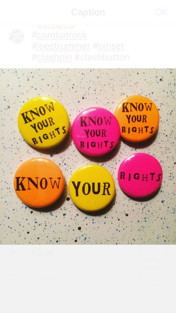 Know Your Rights pin set