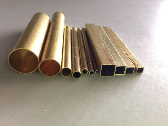 Brass tube set for making designs and impressions in clay, fondant and more this 10 pc set incluedes 7 round and 3 square tubes