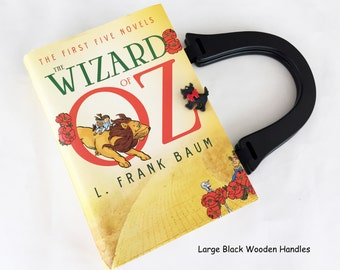 The Wizard of Oz Recycled Book Purse - Wonderful Land of Oz Book Clutch - Wicked Witch Book Cover Handbag - Wizard of Oz Collector Gift