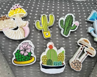 Plant embroidered Patches