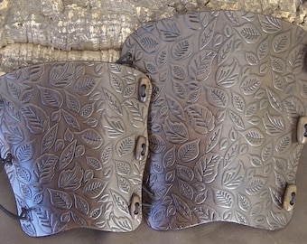 Autumn leaves,leaf Embossed leather archery arm guard,bow, bracer,LARP