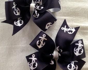 Set of 2 Small Pinwheel Hairbows
