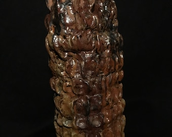 Glazed Fired Art Pottery CROC CORAL CRATER Jane