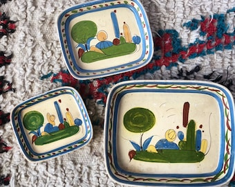 Vintage Ceramic Mexican Nesting Trays - Set of 3