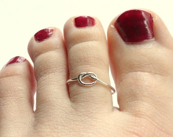 Sterling silver toe ring knot toe ring sterling toe ring summer fashion tie the knot ring beach wedding