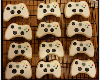 Game Controller Cut Out Sugar Cookies - 1 Dozen