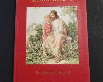 Jesus and I  | First Edition 1939 | First Holy Communion Book | Vintage Catholic Children's Book |  Catholic Children |