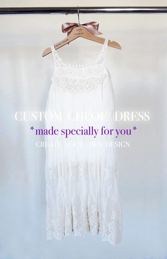 Custom Made Chloe Flower Girl Dress, Flower Girl Lace Dress,Rustic Flower Girl,Bohemian Flower Girl,Boho Flower Girl,Ivory Flower Girl Dress