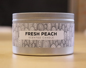 Fresh Peach 8oz Soy Candle