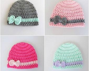 Micro Preemie Hat, Micropreemie Hat, Custom Preemie Hat, Micro Preemie Girl Hat, NICU Baby Hat, Newborn