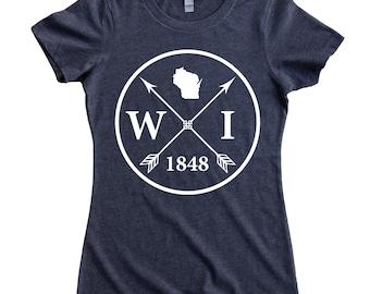 Homeland Tees Wisconsin Arrow Women's T-Shirt
