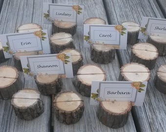 90 Rustic Place Card Holders