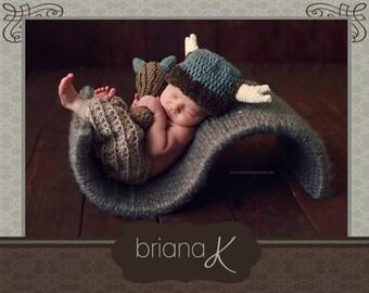 PATTERN Instant Download, Newborn-Adult Caveman Hat and Club