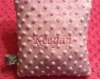 Personalized Minky Pillow with Tag 10x13  Perfect for Babies, Toddlers, and Children of All Ages!