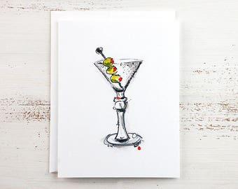 Martini Note Card