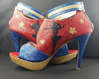 Wonder Woman Sandals Size 9