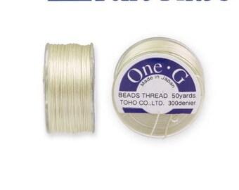 Reel 46 m One - G (Toho) 0.25 mm CREAM yarn