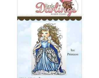 Ice Princess (Little Darling Stamps) - unmounted rubber stamp by Little Darlings Rubber Stamps
